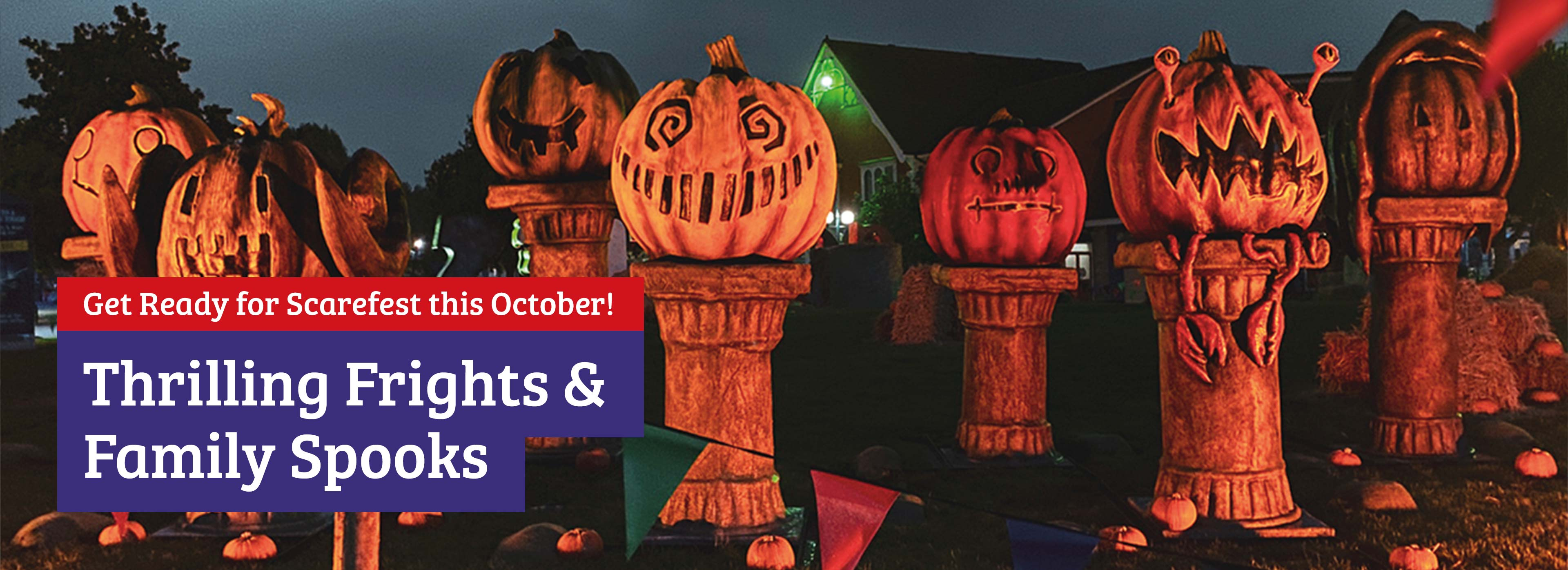 Scarefest Halloween short breaks at the Alton Towers Resort, including October half term
