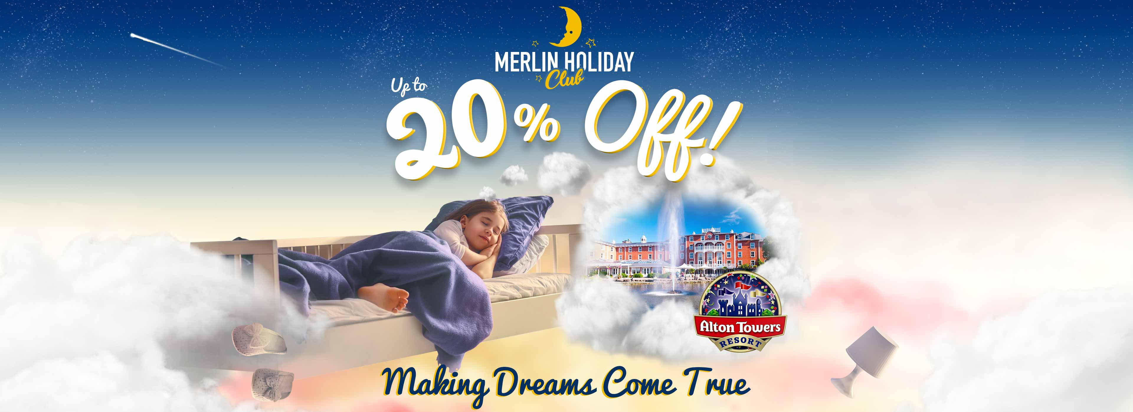 Save up to 20% with Merlin Holiday Club