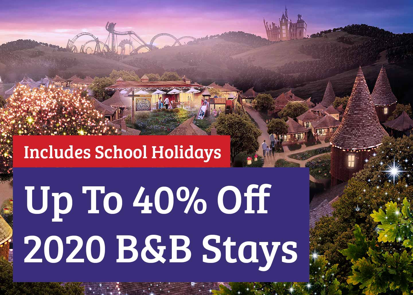Save up to 40% on your 2020 accommodation