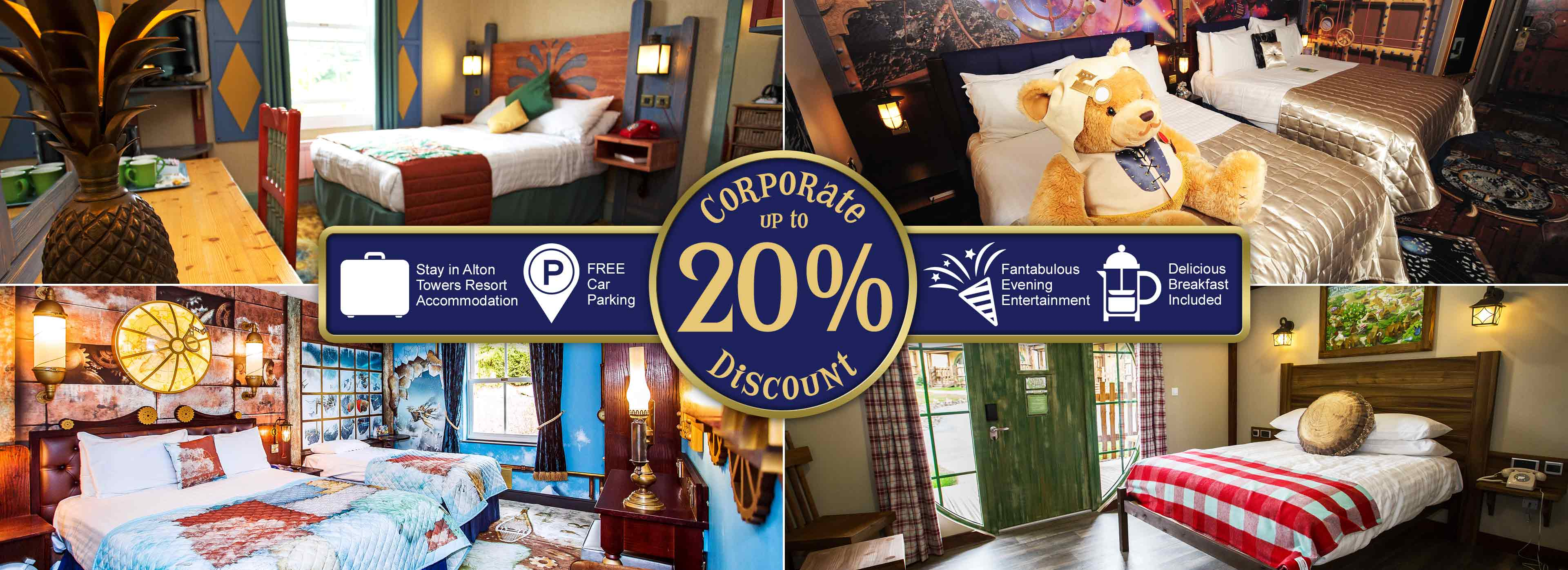 Up to 20% Corporate Discount with Alton Towers Holidays