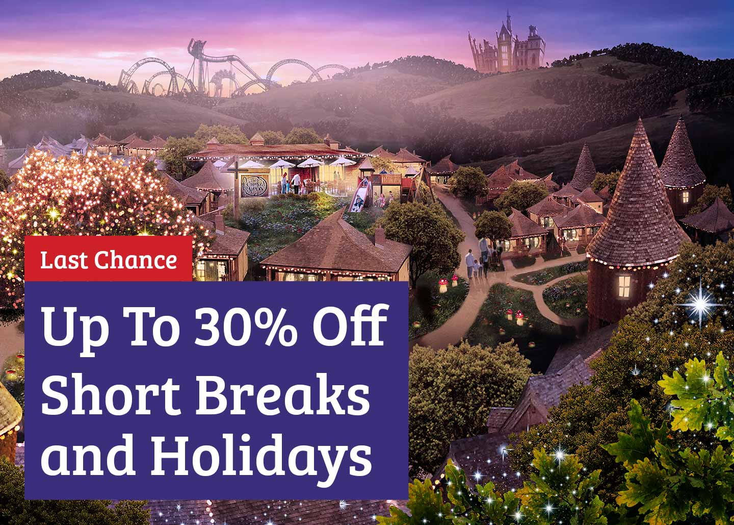 Save up to 30% offer with Alton Towers Holidays