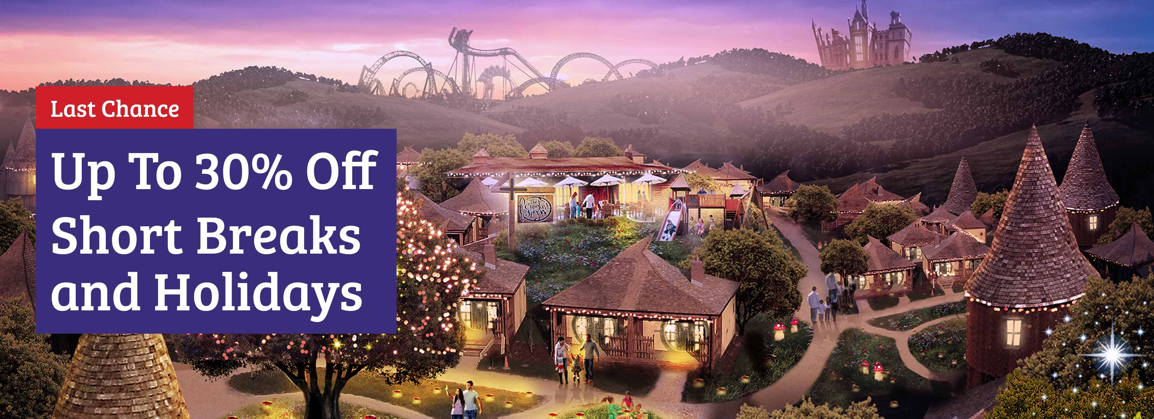 Save up to 30% on your 2020 accommodation with Alton Towers Holidays
